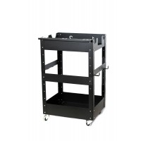 POKA PREMIUM Detailingový vozík na kolečkách černý mat