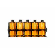POKA PREMIUM Bottle Holder WOL Držák na zeď nebo vozík na 5 láhví do 1,0 l