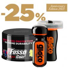 SOFT99 Protection Time Set Dark Sada 3 zvýhodněných produktů s Fusso Dark a Ultra Glaco na skla