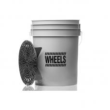 WORK STUFF Wheels Grey Bucket 20l Kbelík na mytí disků se separátorem nečistot