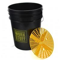WORK STUFF Wash Bucket kbelík na mytí černý s vložkou