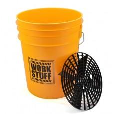 WORK STUFF Wash Bucket kbelík na mytí žlutý s vložkou