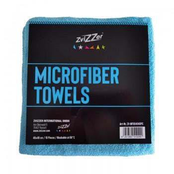 ZviZZer Microfiber Towels Blue 10ks Mikrovláknových utěrek lejzrem řezaných 40x40 cm