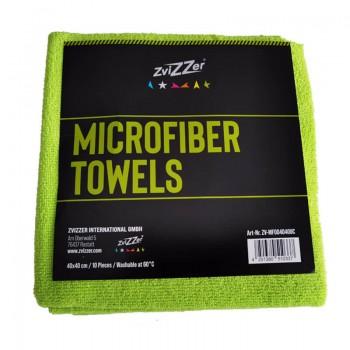 ZviZZer Microfiber Towels Green 10ks Mikrovláknových utěrek lejzrem řezaných 40x40 cm
