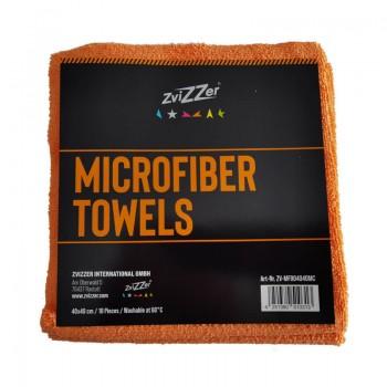 ZviZZer Microfiber Towels Orange 10ks Mikrovláknových utěrek lejzrem řezaných 40x40 cm