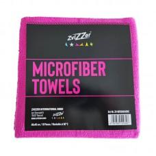 ZviZZer Microfiber Towels Red 10ks Mikrovláknových utěrek lejzrem řezaných 40x40 cm