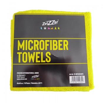 ZviZZer Microfiber Towels Yellow 10ks Mikrovláknových utěrek lejzrem řezaných 40x40 cm